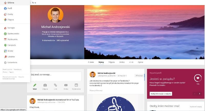 profil prywatny google+